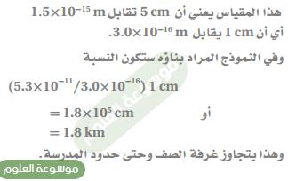 15) نصف قطر نواة ذرة الهيدروجين (1.5x10-15 m) تقريباً