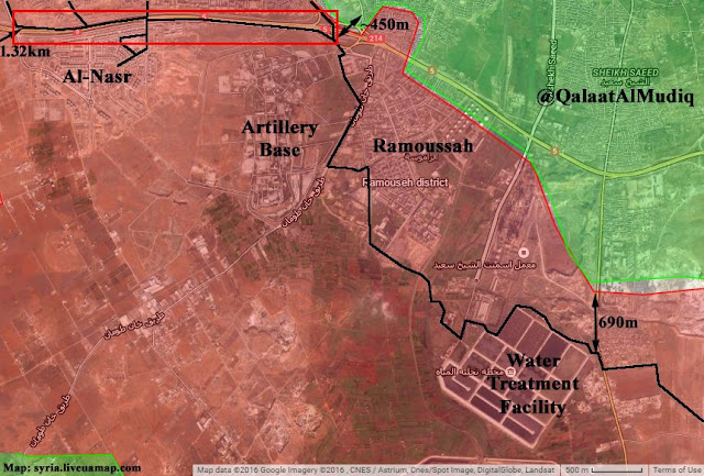 peta area pertempuran mujahidin di aleppo barat