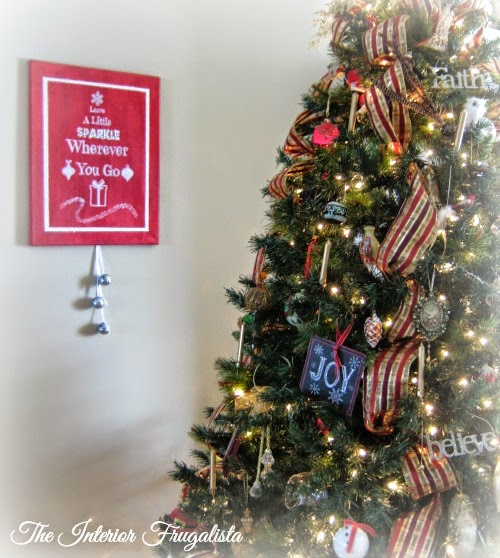 DIY Holiday Canvas with a little sparkle