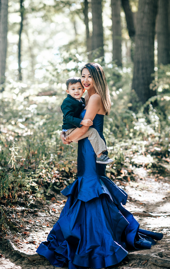 Black Tie Dress, Alyce Paris Dress, Holiday looks for a photoshoot, Mom and Son Photoshoot, Mom and Son what to wear for holiday card