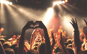 Wallpaper: People feel good at concert