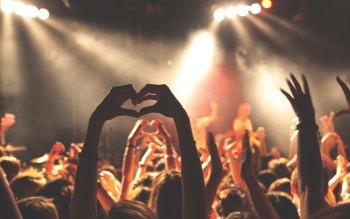 Wallpaper: People feel good at concert