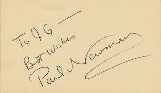 El análisis grafológico de Paul Newman es discreto.