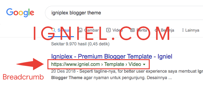 Cara Pasang Breadcrumb SEO Friendly di Blogspot