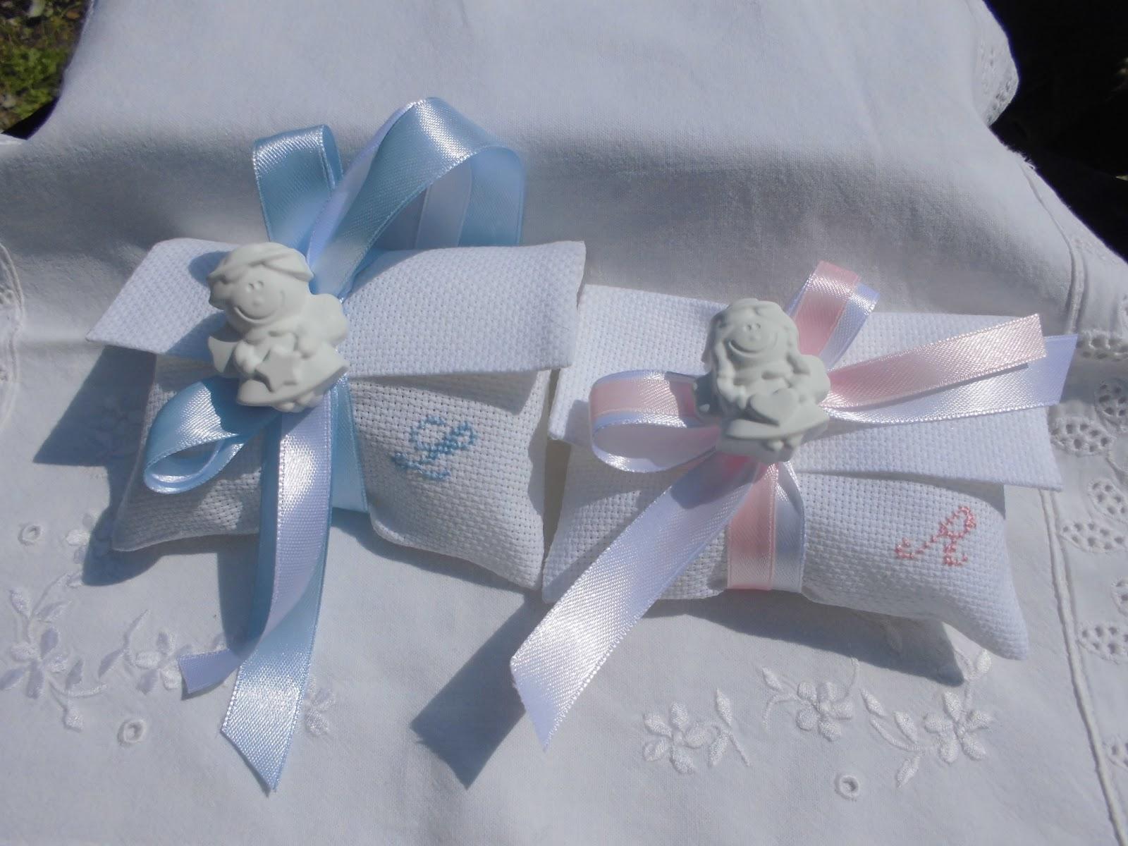 Molto bomboniere ricamate di sara: bomboniere battesimo OU04