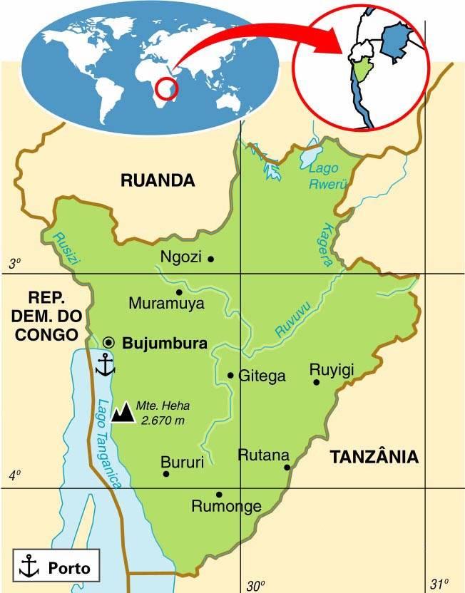 BURUNDI, ASPECTOS GEOGRÁFICOS E SOCIOECONÔMICOS DO BURUNDI