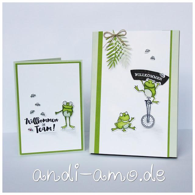 Willkommensgeschenk Stampin Up Team andi-amo