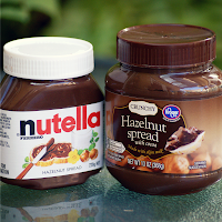 Nutella and Kroger Crunchy Hazelnut Spread