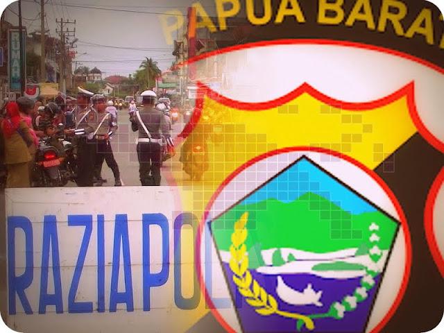 Gelar Razia, Polres Sorong Kota Amankan 2 Parang dan 25 Liter CT