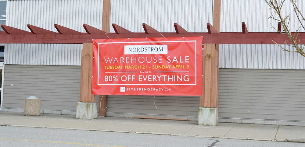 Nordstrom Warehouse Sale Vancouver review