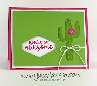 Flowering Desert Swap Card ~ 2019 Occasions Catalog ~ www.juliedavison.com
