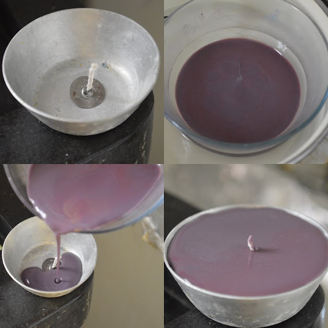 Witch DIY - Color Reclycling Candles