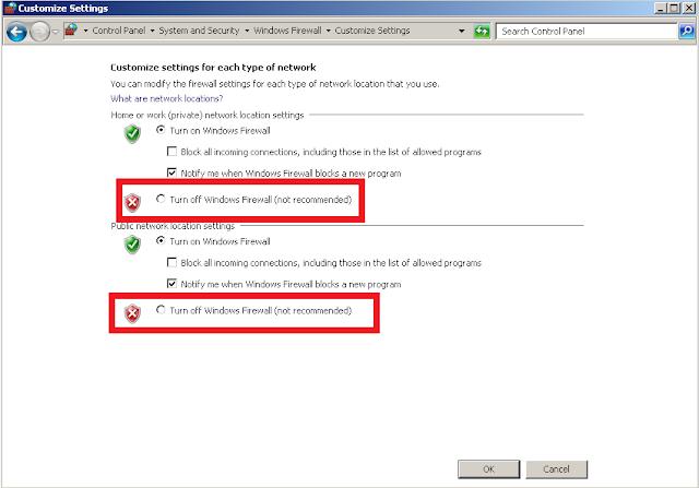 ARD - Turn off Windows firewall