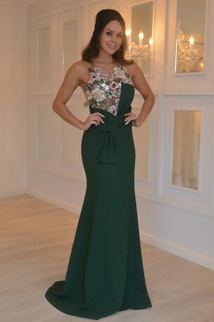 vestido de festa verde laço patricia bonaldi