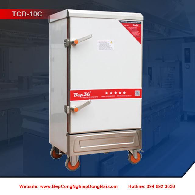 Tủ nấu cơm 10 khay dùng điện TCD-10C