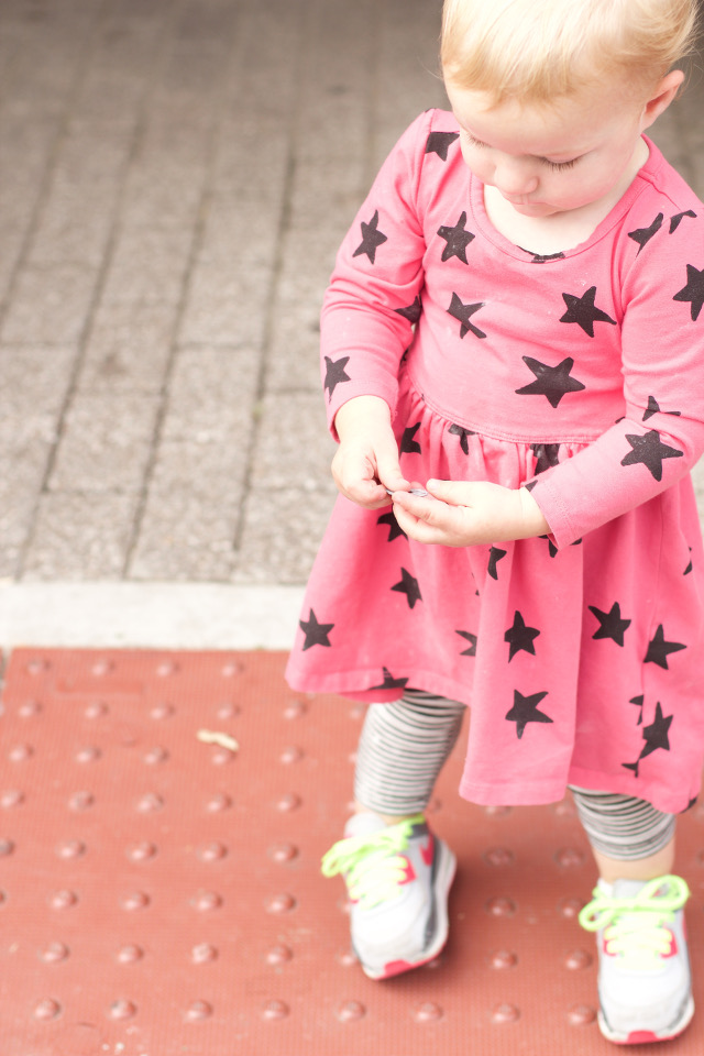 Toddler girl outfit with sneakers