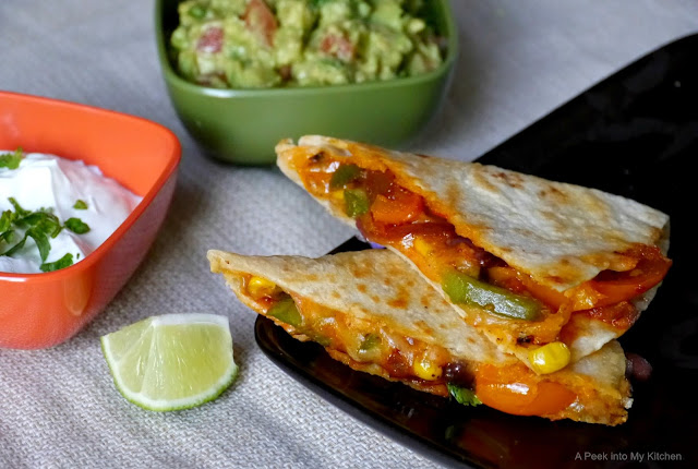 Vegetable Quesadilla (Super Bowl Recipe) ~ Day 35