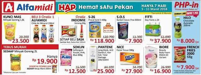 Katalog Promo ALFAMIDI Hemat Satu Pekan Periode 05 - 11 Maret 2018