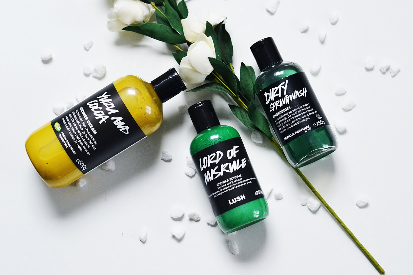Lush, shower gel, soap, yuzu and cacoa, lord of misrule, dirty springwash, fashion blogger, mode blogger, belgie