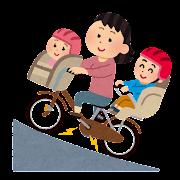 電動アシスト自転車に乗る人のイラスト