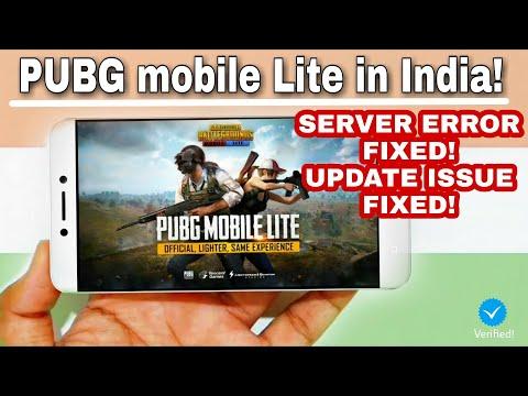 PUBG mobile Lite in India! | Server Error Fix & Updated