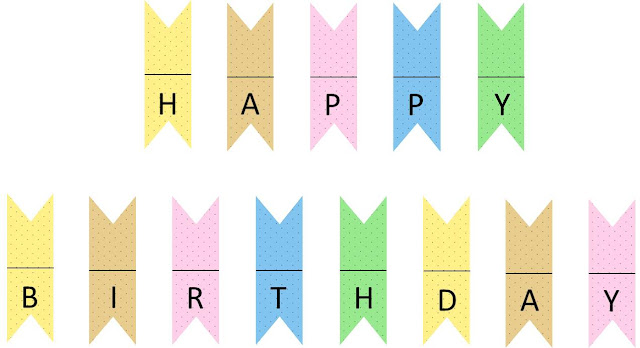 happy birthday mini banner/cake banner (free printable)