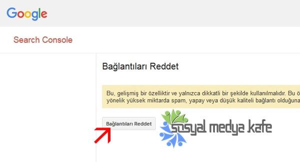 Google Bağlantı Reddetme Aracı
