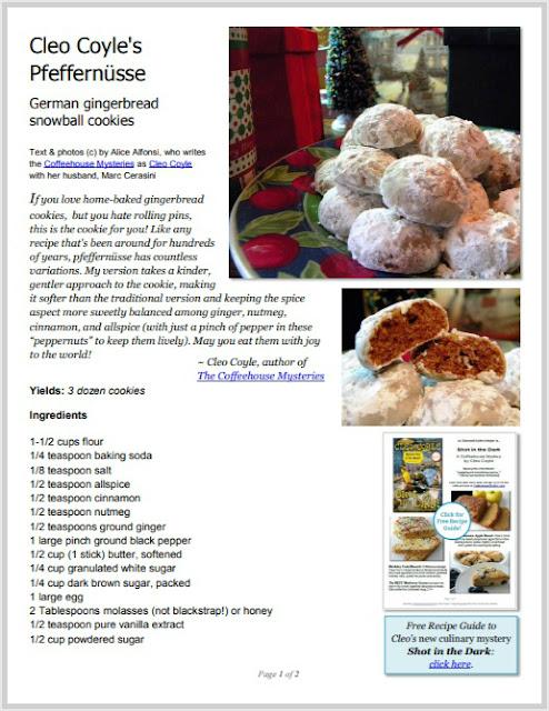 A Kinder Gentler Pfeffernusse Gingerbread Snowball Cookies