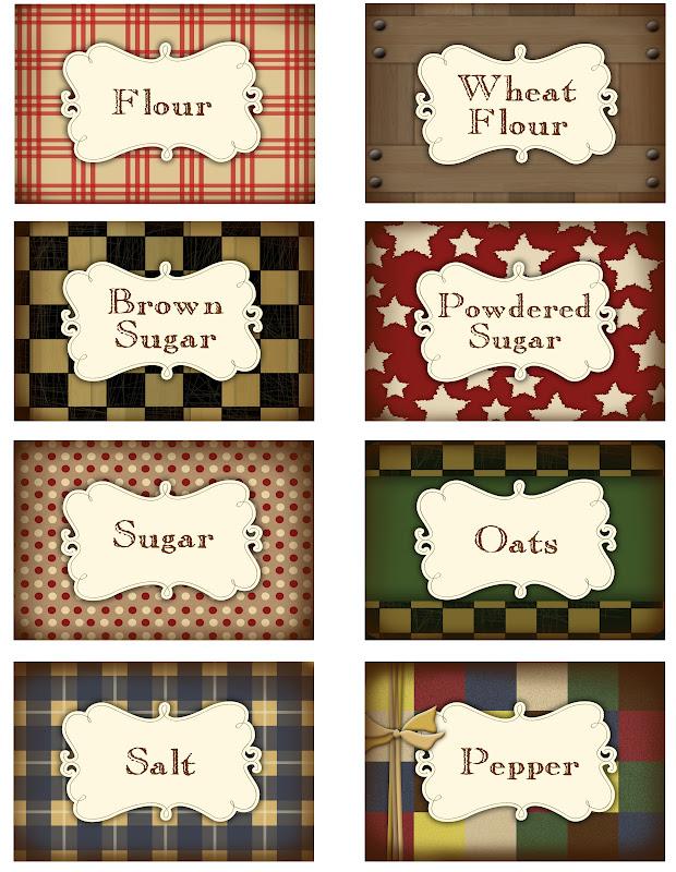 Printable Pantry Labels - Darling Doodles