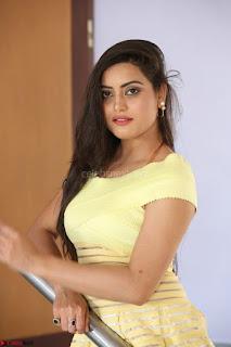 Shipra gaur in V Neck short Yellow Dress ~  010.JPG