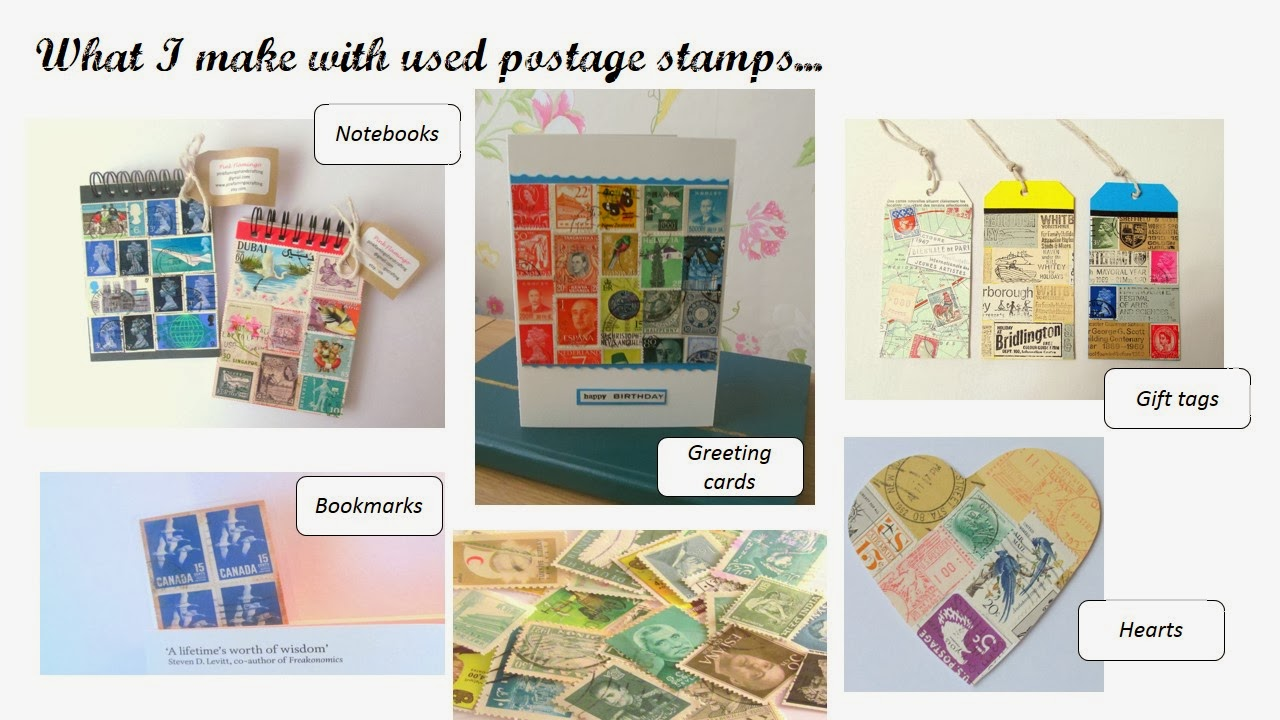 Using postage stamps in crafts... by Pink Flamingo Handcrafting