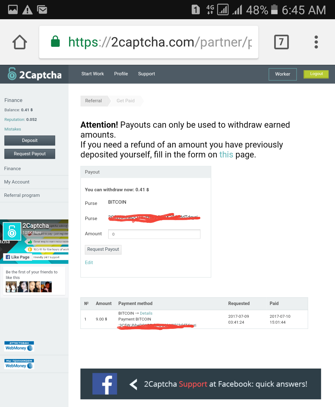 Proof of Payment: Earn Bitcoin by Typing Captcha
