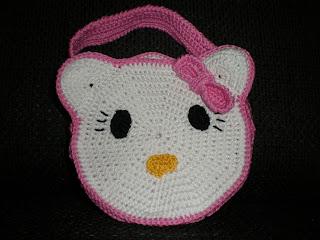Hello Kitty tasje gehaakt door Petra voor Emily, naar een patroon van HappyHaken