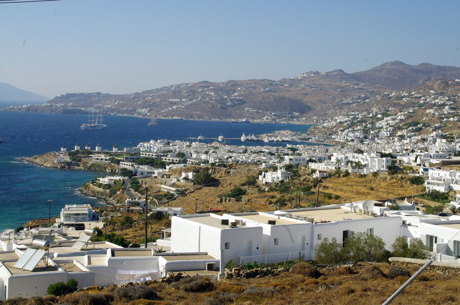 Mykonos Town from Tharroe of Mykonos