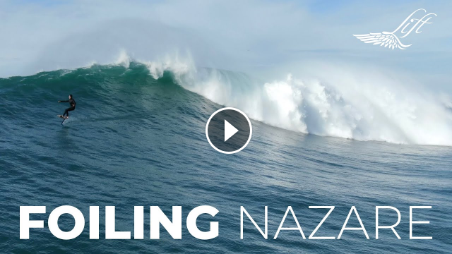 Epic Big Wave Surf Foiling in Nazare w Laird Hamiton Terry Chung Luca Padua Benny Ferris