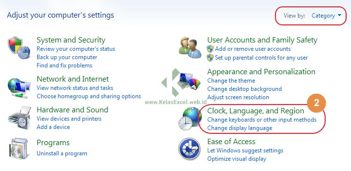 Cara Mengatur Regional Setting Komputer 2