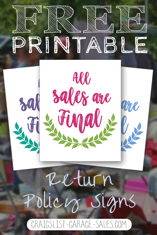 free printables cute all sales are final signs craigslist