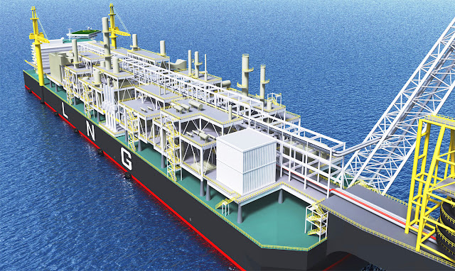 リアルイラスト、3DCG、LNGタンカー、海、タンカー、船