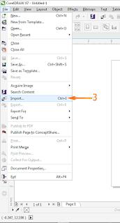 Cara Import Export File CorelDraw