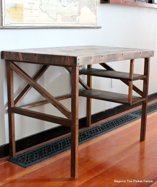 mission style wood desk