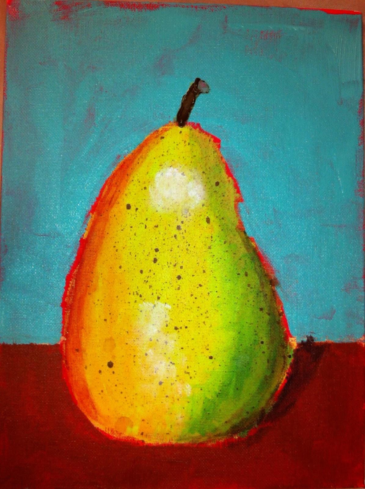 Angela Anderson Art Blog Pear Acrylic Paintings