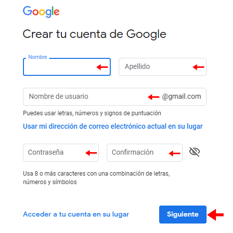 inicio sesion Google One