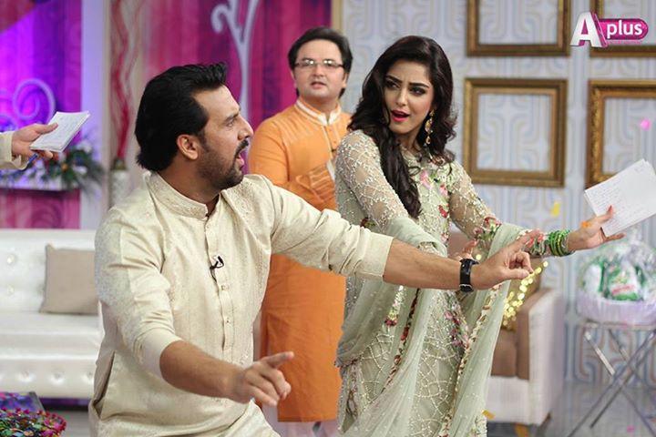 Maya Ali group dancing