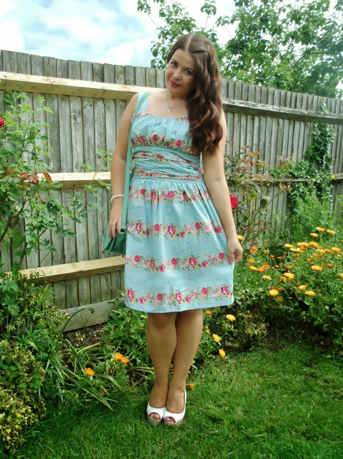 VOODOO VIXEN VINTAGE STYLE RETRO PIN UP SUMMER FLORAL ANGIE DRESS