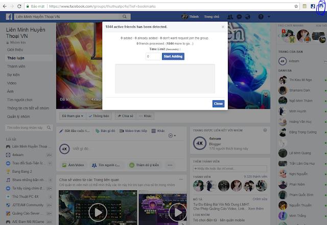 Tăng Thành Viên Group Facebook bằng Tiện Ích 2018