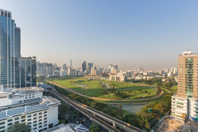 View from Peacock Alley at Waldorf Astoria Bangkok