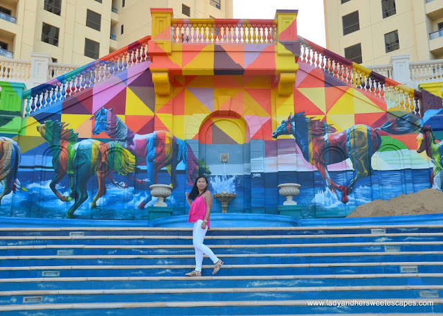 cool street art in JBR-The Walk