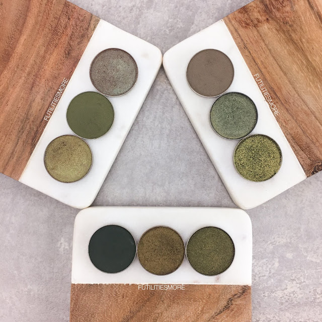 OLIVE GREEN EYESHADOWS BY MAKEUP GEEK COSMETICS, FUTILITIESMORE, FUTILITIESANDMORE, FUTILITIES AND MORE,