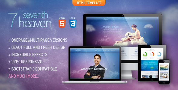 Premium Onepage or Multipage theme