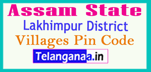 Lakhimpur District Pin Codes in Assam State